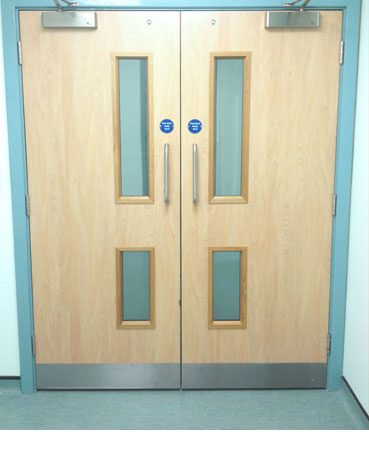 5 Star Maintenance install, service and repair a range of fire rated doors, from heavy, solid wood interior doors to steel exterior models installed